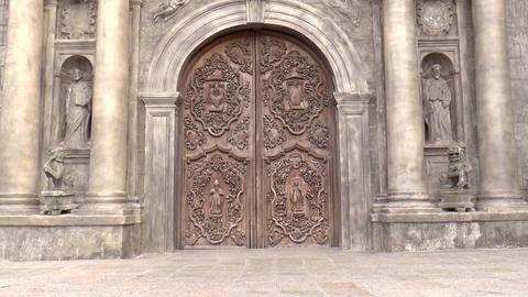 San Agustin Church Door stock footage