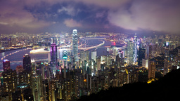 4k Timelapse Video Of City At Night With Growing T stock footage