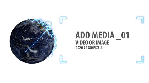Space and Earth Media Panels (White) After Effects Template