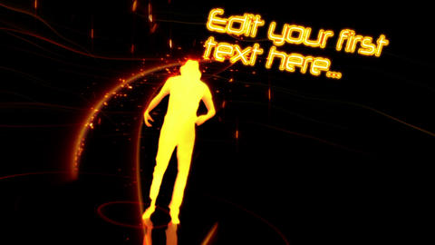 Graphic Orange Disco Dancing After Effects Template