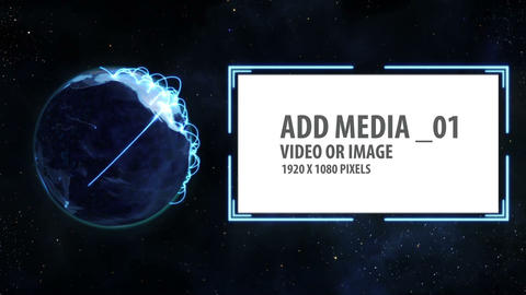Space and Earth Media Panels 1 After Effects Template