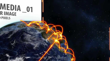 Space and Earth Media Panels (Orange) After Effects Template