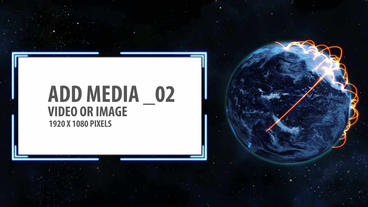 Space and Earth Media Panels (Orange & Blue) After Effects Template