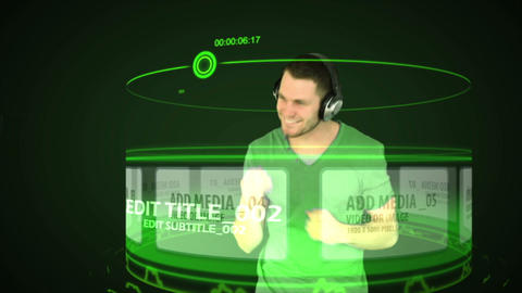 Browsing Music and Dancing (Green) After Effects Template