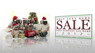 Christmas Sale Animation After Effects Template