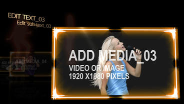 Music Media Screens After Effects Project