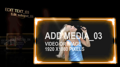 Music Media Screens After Effects Template