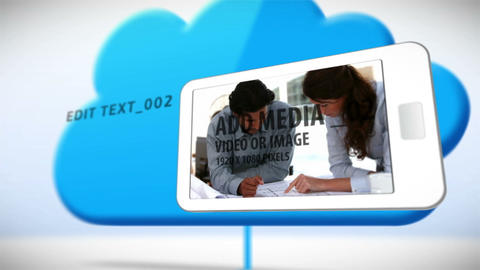 Smartphone Cloud Network After Effects Template