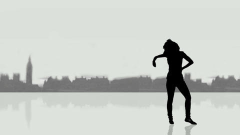 City Dancing silhouettes After Effects Template