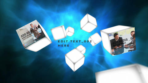 Media Box Flythrough After Effects Template