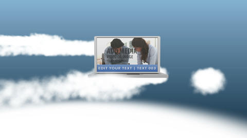 Laptops in Cloud After Effects Template