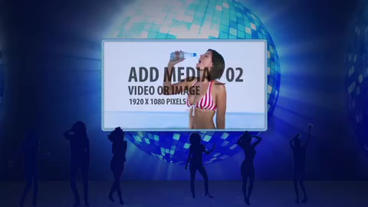 Dancing disco crowd After Effects Template
