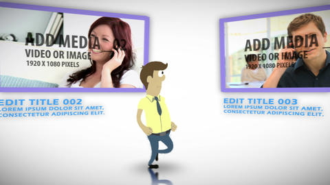 Business Character Gallery After Effects Template