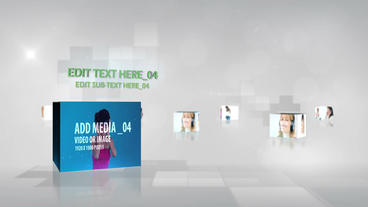 Music Media Cubes After Effects Template
