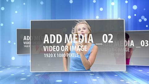Blue Floating Media After Effects Template
