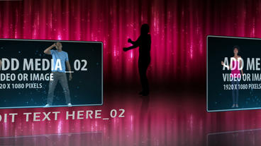 Dancers with curtain backdrop After Effects Template