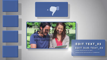 Social media display After Effects Template