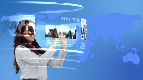 Futuristic Media Browsing After Effects Template