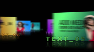 Linear video display After Effects Template