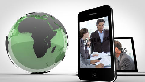 Globe And Devices After Effects Template