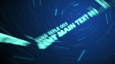 Space Blue Text Sequence - 3