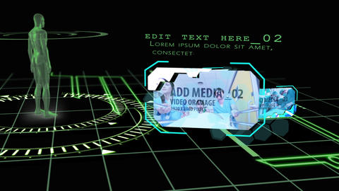Xray grid After Effects Template