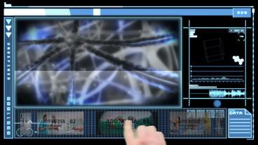 Neurological Carousel Display stock footage