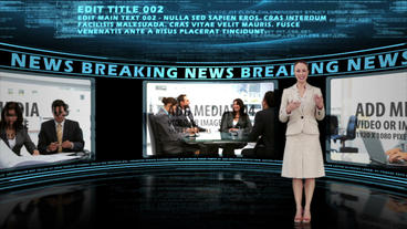 Blue Code News Report After Effects Template