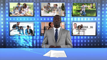 News Desk Blue After Effects Template