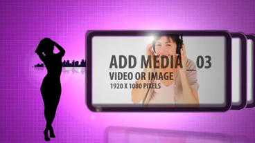 Dancing silhouettes slide show After Effects Template