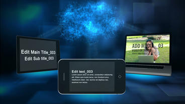 Devices Cloud After Effects Template