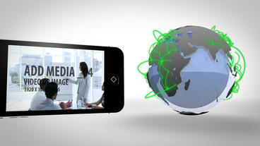 Globe and Phones After Effects Template