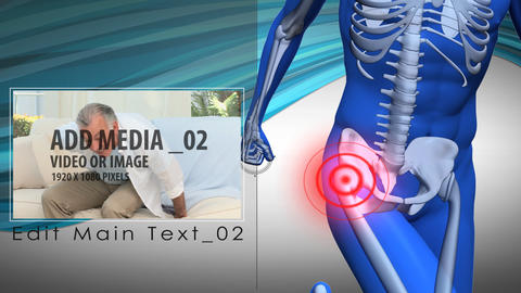 Pain zone: Hip After Effects Template