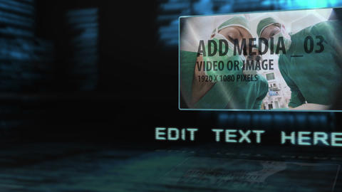 Digital Rotating Room After Effects Template