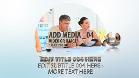 Circular Media Flythrough After Effects Template