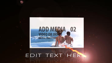Fire Text and Media Display After Effects Project