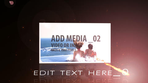 Fire Text and Media Display After Effects Template
