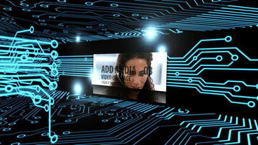 Virtual Circuit Flythrough After Effects Template