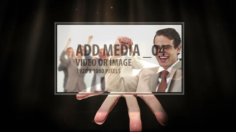 Media hand from darkness After Effects Template