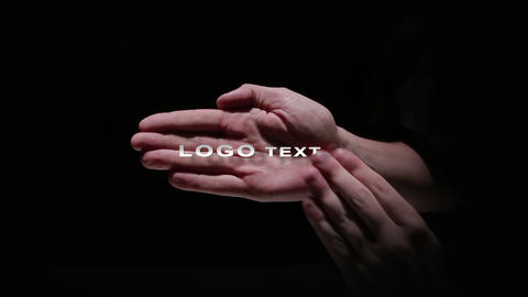 Two Hand Logo Reveal After Effects Template