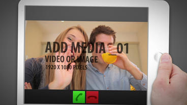 iPad Video Chat After Effects Template