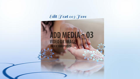 Blue Wedding Flourish After Effects Template