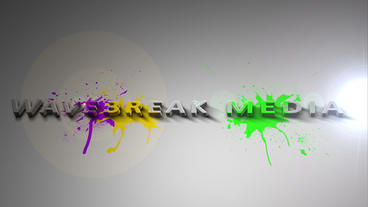 Logo Reveal With Paint Splash After Effects Template