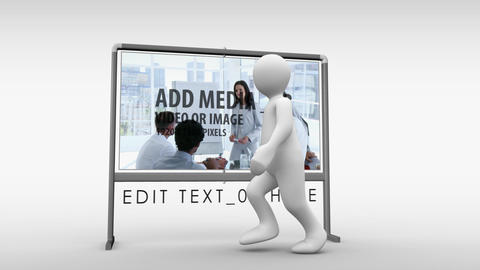 Man And Notice Board After Effects Template