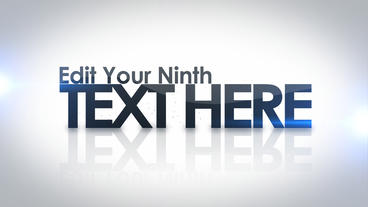 Text Flythrough After Effects Template