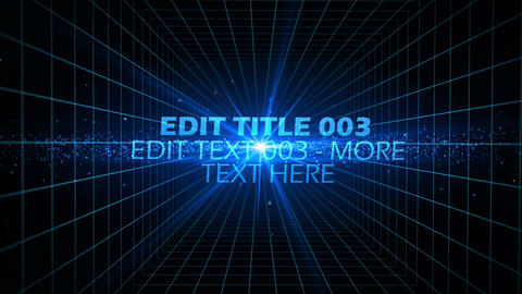 Space Grid Text After Effects Template
