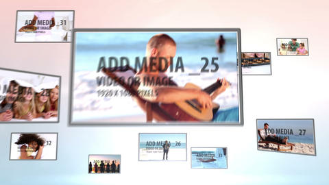 Media wall and frames After Effects Template