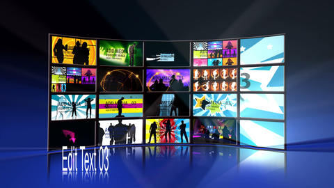 Video Disco Wall After Effects Template