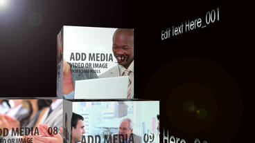 Cubes and grid montage After Effects Template