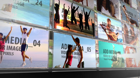 Video Walls in 3d space After Effects Template